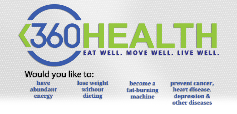 Image of 360 health. Eat well. move well. live well